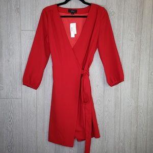 J. Crew Dresses - J. Crew NWT Red Crepe Wrap Dress H6292